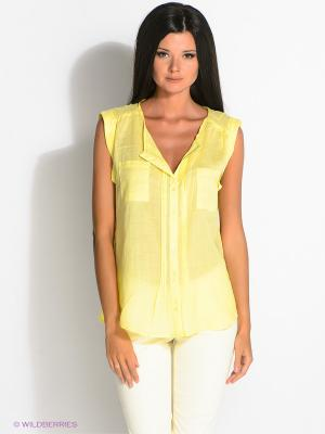 Блузка ZENDRA. Цвет: желтый