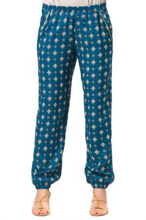 Свободные брюки с карманами Helmidge. Цвет: синий, желтый