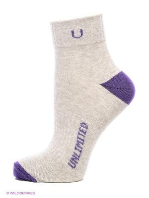 Носки спортивные 5 пар Unlimited. Цвет: серый меланж, индиго
