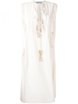 Платье со шнуровкой Veronique Branquinho. Цвет: телесный