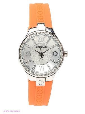 Часы Morgan. Цвет: оранжевый, серебристый