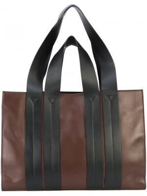 Oversized shopper tote Corto Moltedo. Цвет: коричневый
