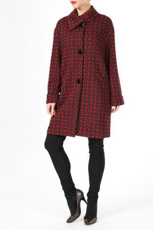 Пальто DONNA ENRICA. Цвет: серый