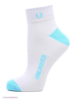 Носки спортивные 5 пар Unlimited. Цвет: белый, салатовый