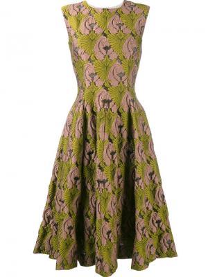 Платье Mercedes Emilia Wickstead. Цвет: зелёный