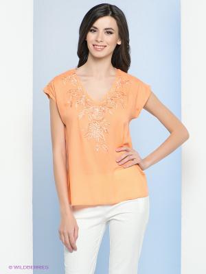Блузка Vis-a-vis. Цвет: светло-оранжевый