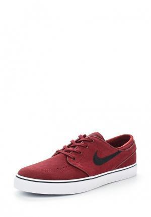 Кеды Nike. Цвет: бордовый
