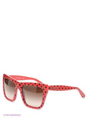 Очки солнцезащитные DOLCE & GABBANA. Цвет: красный, черный