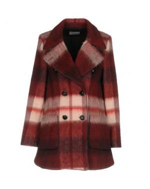 Пальто FAIRLY. Цвет: красно-коричневый
