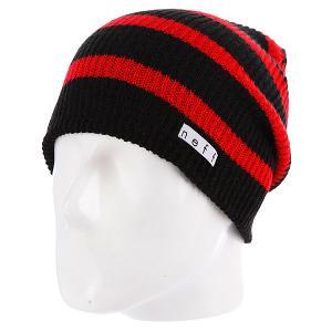 Шапка носок  Daily Stripe Black/Red Neff. Цвет: красный,черный