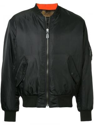 Куртка-бомбер Yves Salomon Homme. Цвет: чёрный