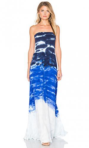Платье lively Young Fabulous & Broke. Цвет: синий