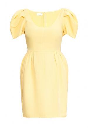 Платье изо льна 165190 Villa Turgenev. Цвет: желтый