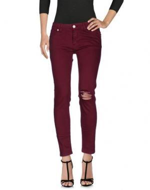 Джинсовые брюки UFFICIO 87. Цвет: красно-коричневый