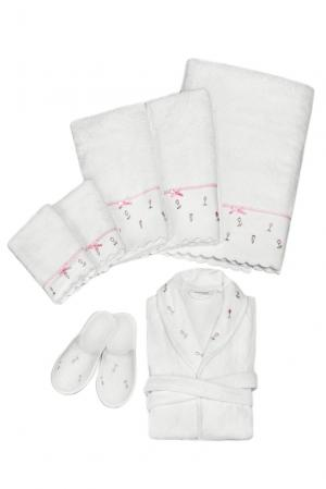 Набор (халат с тапочками и полотенцами (5шт) 131816 Basile. Цвет: бежевый