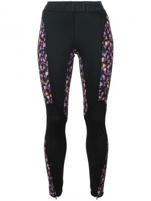 Леггинсы Flower Thrift с панельным дизайном Versace. Цвет: чёрный