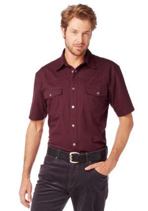Джинсовая рубашка Arizona. Цвет: черный