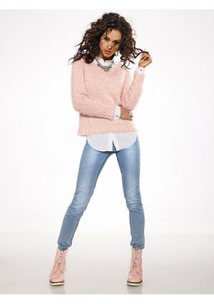 Пуловер B.C. BEST CONNECTIONS. Цвет: голубой, мятный, розовый, светло-коричневый, черный, экрю