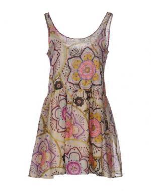 Короткое платье ANJUNA. Цвет: бежевый
