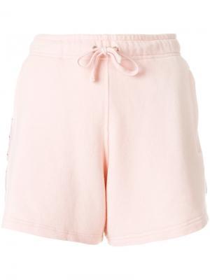 Спортивные шорты с полосками и логотипом Faith Connexion. Цвет: розовый и фиолетовый