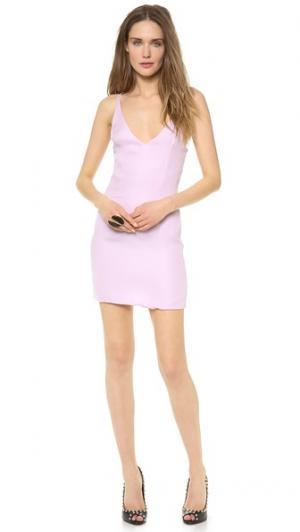 Мини-платье с перекрещивающимися бретельками на спине Olcay Gulsen. Цвет: светло-сиреневый