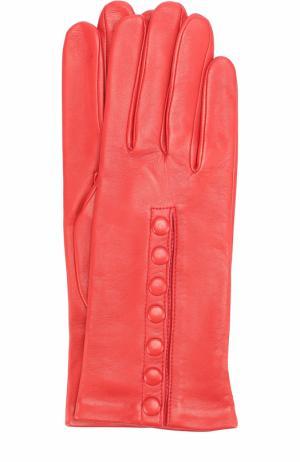 Кожаные перчатки Agnelle. Цвет: красный