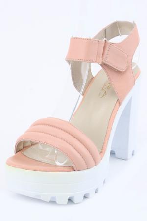 Туфли летние открытые PERA DONNA. Цвет: розовый