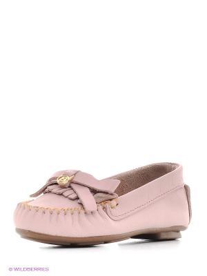 Мокасины Bibi. Цвет: розовый