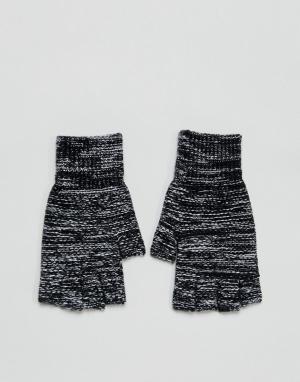 ASOS Черные перчатки без пальцев. Цвет: черный