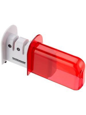 Ножеточка с двумя слотами Fackelmann. Цвет: серебристый, красный