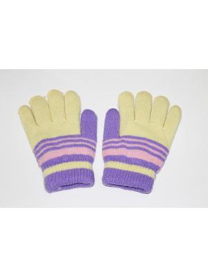 Перчатки Cascatto. Цвет: желтый