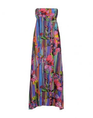 Платье длиной 3/4 ADELE FADO. Цвет: пурпурный