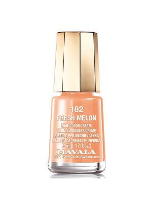 Лак для ногтей тон 182 Fresh melon Mavala. Цвет: оранжевый