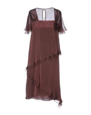 Платье до колена CAILAN'D. Цвет: баклажанный