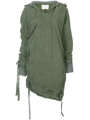 Асимметричная куртка-накидка Greg Lauren. Цвет: none