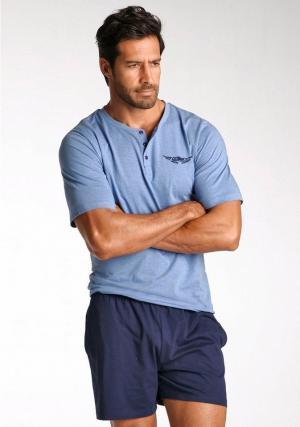 Пижама с шортами Otto. Цвет: синий