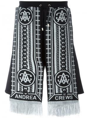 Шорты Sling Silver Andrea Crews. Цвет: чёрный
