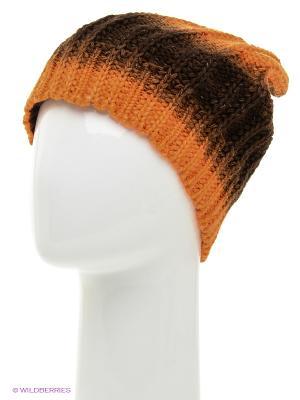 Шапка FOMAS. Цвет: черный, оранжевый