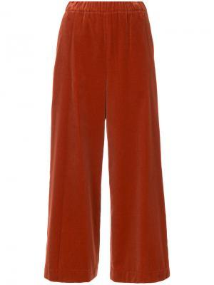 Укороченные широкие брюки 08Sircus. Цвет: красный