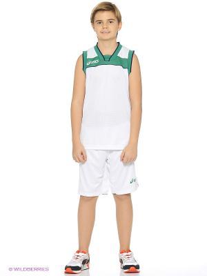 Комплект (майка+шорты) SET LAKE JR ASICS. Цвет: белый, зеленый