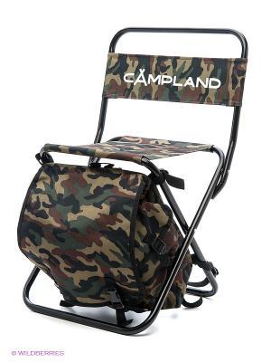 Стул рыбака-рюкзак складной Campland. Цвет: зеленый
