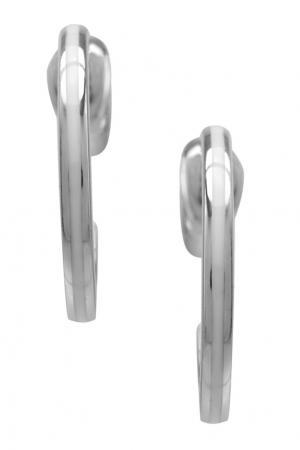 Серебряные серьги AVGVST by NATALIA BRYANTSEVA. Цвет: серебряный