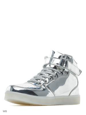 Светящиеся кроссовки Street LedShoes. Цвет: серебристый