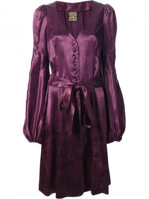 Костюм с платьем и брюками Biba Vintage. Цвет: розовый и фиолетовый
