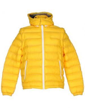 Пуховик PANTONE. Цвет: желтый