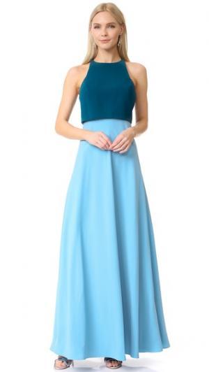 Платье с цветными блоками Jill Stuart. Цвет: прибрежный/синий воробей