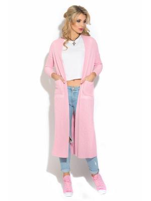Кардиган CLEVER woman studio. Цвет: розовый
