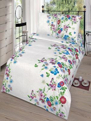 Комплект постельного белья тк.Бязь Вероника Арт Постель. Цвет: белый