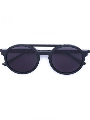 Солнцезащитные очки в круглой оправе Dr. Woo x Thierry Lasry. Цвет: чёрный