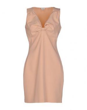 Короткое платье INTROPIA. Цвет: песочный
